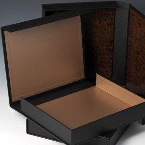 design doos zwart bruin